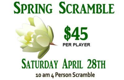 spring scramble golf tournament